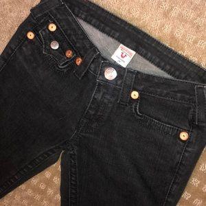 True religion black jeans size 29